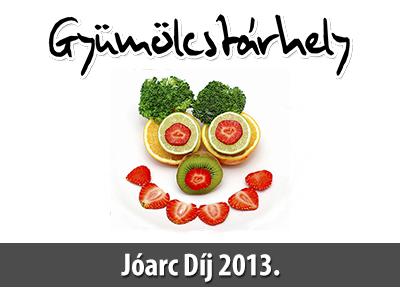 Gyümölcstárhely Jóarc Díj 2013. – versenykiírás és nyeremények